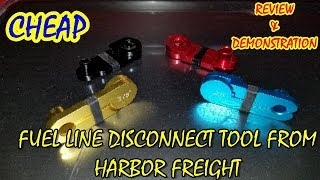 The Ghetto Mechanic Reviews Fuel Line Disconnect Tool From HF!