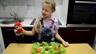 Супер закуска Грибная поляна.Рецепт.Дети готовят.Видео для детей.