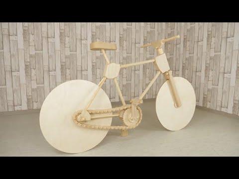 Полноценный САМОДЕЛЬНЫЙ ДЕРЕВЯННЫЙ велосипед./Как сделать велосипед из дерева?