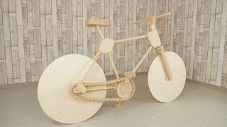 как сделать велосипед из дерева своими руками