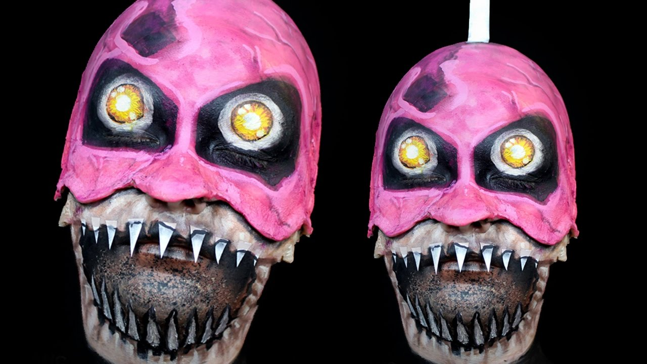 nightmare cupcake make up tutorial five nights at freddys 4 youtube