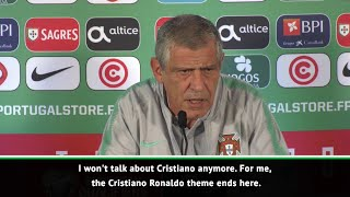 Portugal coach Santos gets frustrated with questions about Ronaldo