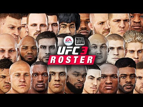 EA SPORTS UFC 3 - FULL ROSTER PLUS FIGHTER STATS!