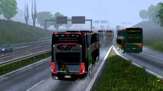 Repeat youtube video Euro Truck Simulator 2 Bus trip to Gdansk with Marcopolo Paradiso G7 1800 DD p1
