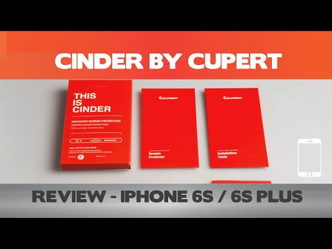 Cinder Review - PLEASE READ THE WARNING  BELOW! - iPhone 6 screen protectors - Cupert Technology