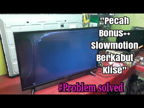 How To Fix Screen LED Tv Cracked #replace But A New Problem