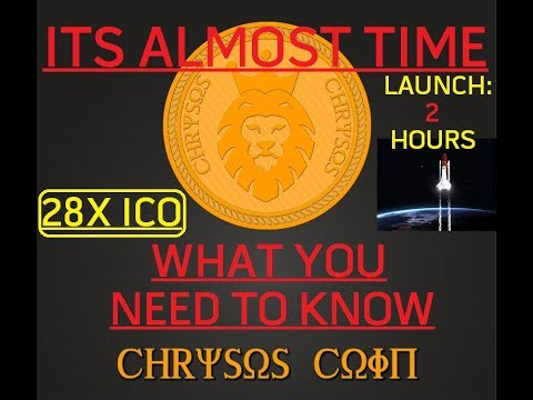 CHRYSOS COIN REVIEW | LENDING ICO LAUNCH IN 2 HOURS - 28x ICO | WHAT YOU NEED TO KNOW