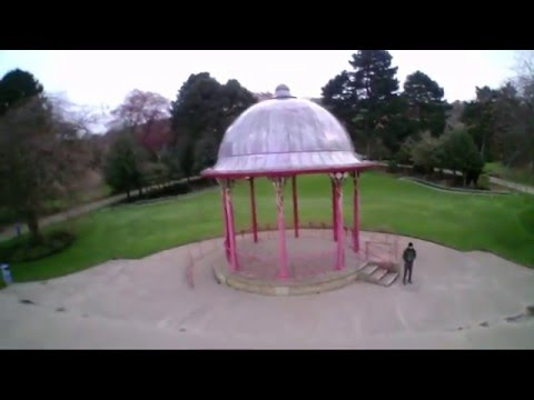 Flying Hubsan H107D+ around Roberts Park Bandstand, Saltaire