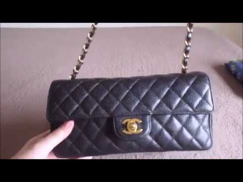 d01260494650 Chanel East West Classic Flap Review and Demo - YouTube