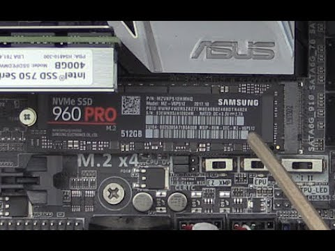 960 PRO SSD Install - 512 GB NVMe M 2 & Data and Heat Tests