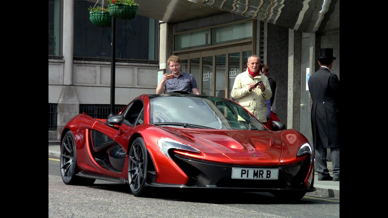 Volcano Orange Mclaren P1 in London