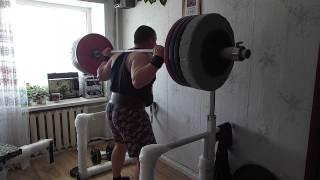 Домашние тренировки присед 225 вес 109кг