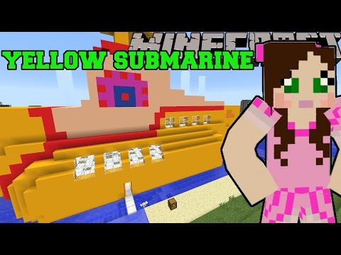 Minecraft: YELLOW SUBMARINE (THE BEATLES MUSICAL INSTRUMENTS & WORLD!) Mod Showcase