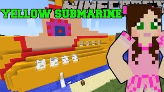 Minecraft: YELLOW SUBMARINE (THE BEATLES MUSICAL INSTRUMENTS & WORLD!) Mod Showcase