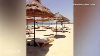 """لحظة بلحظة في فيديو مصور.. اللحظات الأخيرة لمنفذ """"هجوم تونس"""""""