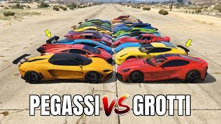 GTA 5 ONLINE : PEGASSI VS GROTTI (WHICH IS FASTEST?) | Lamborghini VS Ferrari