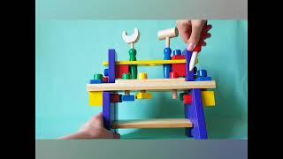 Игрушка Деревянный набор инструментов верстак
