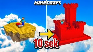Minecraft: ZAMEK W 10 SEKUND NA BEDWARS!