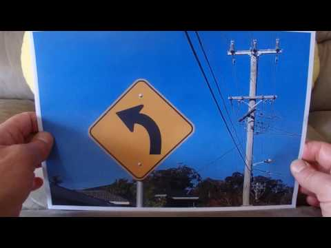 ASMR - Street Signs - Australian Accent - Describing Each Sign with a Quiet Whisper