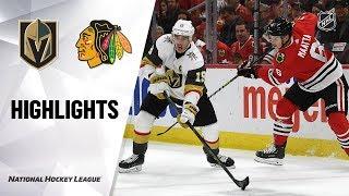 NHL Highlights | Golden Knights @ Blackhawks 10/22/19