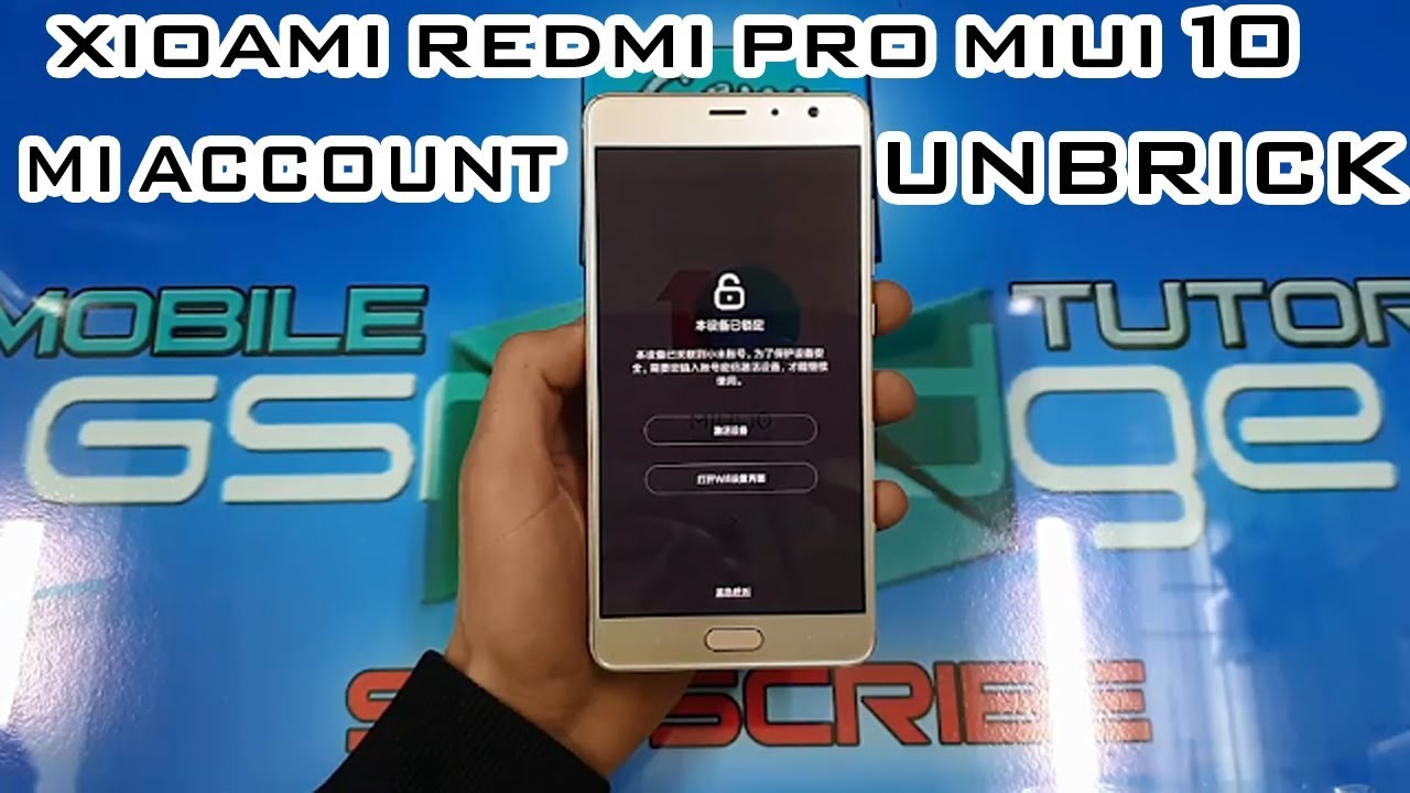 XIAOMI REDMI PRO MIUI 10 HOW TO BYPASS MI ACCOUNT ONLY ON GSMEDGE