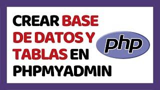 إنشاء قاعدة البيانات والجداول في PhpMyAdmin