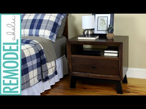 DIY Chunky Solid Wood Nightstand or End Table Building tutorial + BUILDING PLAN