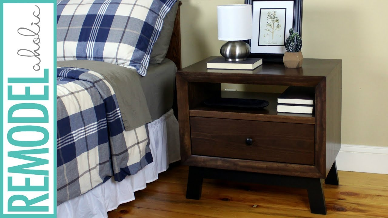 DIY Chunky Solid Wood Nightstand Or End Table Building Tutorial BUILDING PLAN