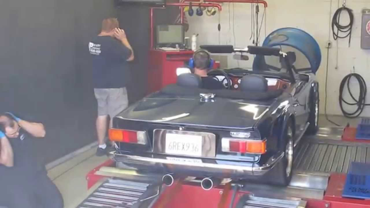 Chevy LS1 V8 powered 1974 Triumph TR6 - YouTube