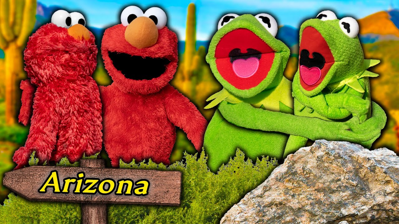 Kermit the Frog and Elmo meet their NEW Multiverse Clones!