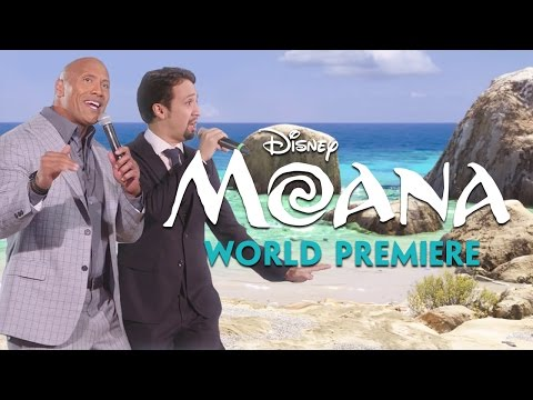 LinManuel Miranda & Dwayne The Rock Johnson Sing Youre Welcome From Moana!