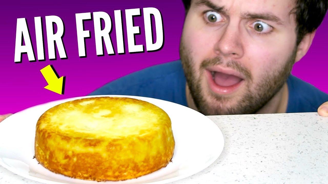 I Tried Making Cheesecake In An Air Fryer Omg Youtube