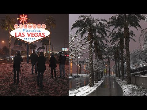 Rare Snowstorm Gives Las Vegas Incredible New Look
