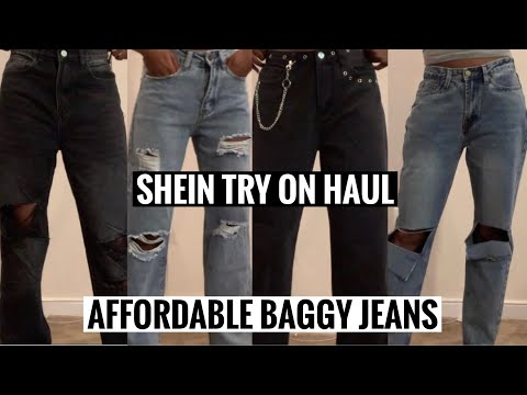 AFFORDABLE BAGGY JEANS | SHEIN TRY ON HAUL