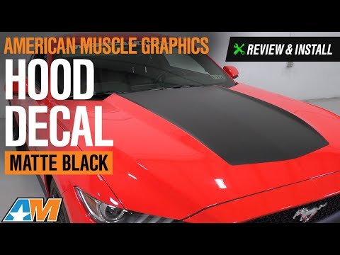 2015-2017 Mustang American Muscle Graphics Matte Black Hood Decal Review & Install