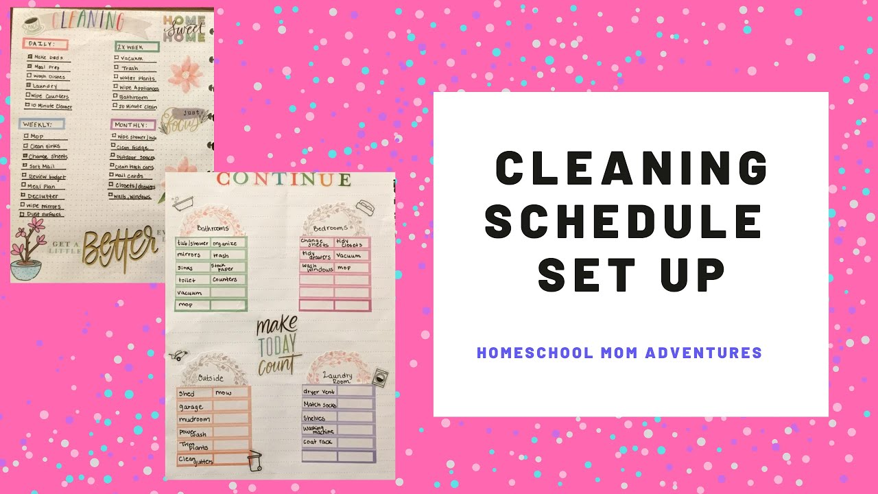 Cleaning Schedule Setup/Making a cleaning checklist for my happy ...