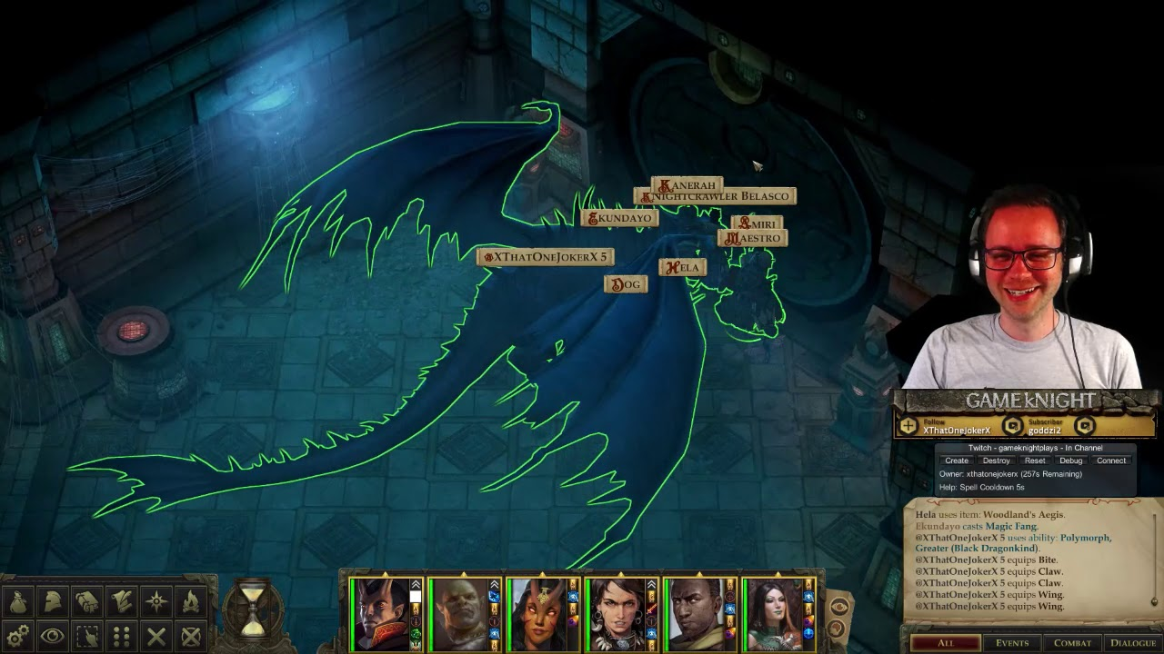 Twitch Familiar mod in Action at Pathfinder: Kingmaker Nexus