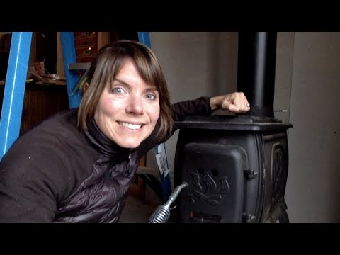 Wood Stove Chimney Install, Surprise Window and More Water Problems