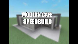 Modernes Cafe SpeedBuild - ROBLOX Studio