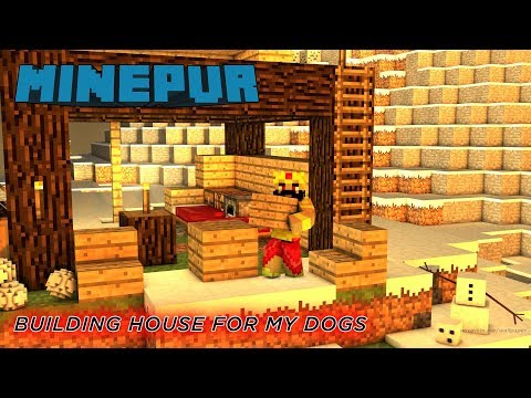 LIVE - Minecraft Minepur CHILL STREAM LETS BUILD AN HOUSE FOR MY PET DOGS AND MANY MORE TO GO.....