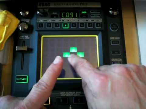 Korg Kaossilator Pro Video 3 Of Many. The Learning Curve Continues!