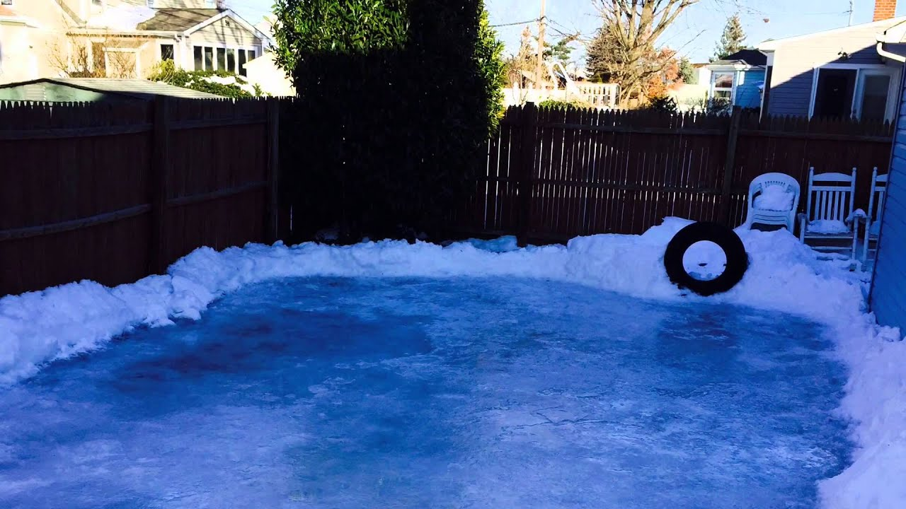 how to build a backyard ice hockey rink youtube