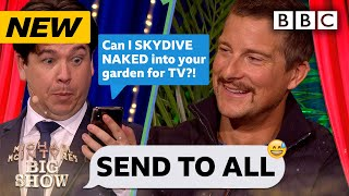 Survival expert Bear Grylls' hilariously REVEALING Send To All! - Michael McIntyre's Big Show | BBC