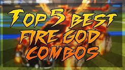 TOP 5 BEST FIRE GOD COLOR COMBINATIONS ON ROCKET LEAGUE (Fire God Car Designs)