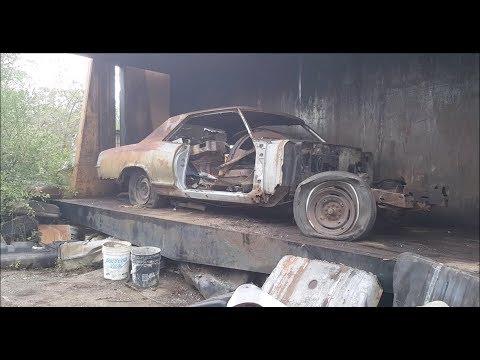 Car crusher crushing cars 39 1965 buick riviera