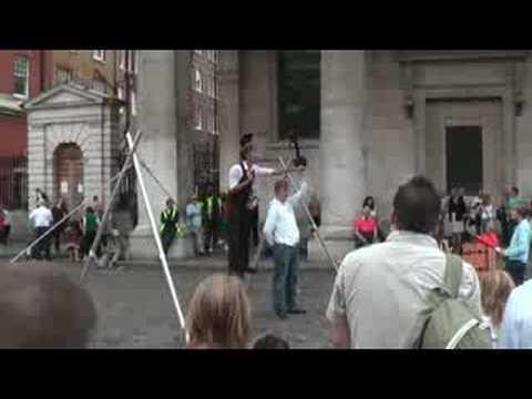 Tightrope walker in London