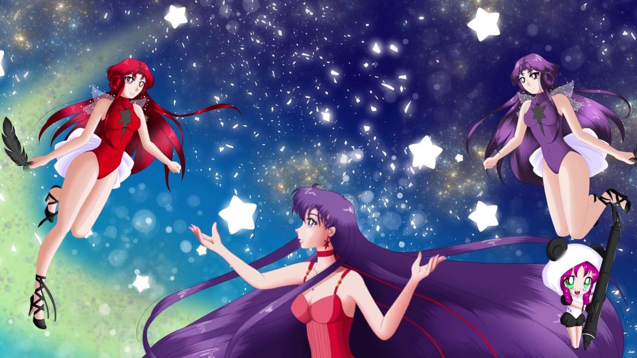 Sailor Mars, Princess Mars, Deimos, Phobos, Speed Paint ...