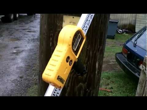 Using a laser level to layout elevations for new building lot