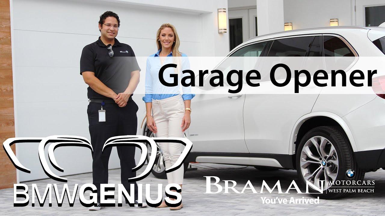 How To Program Your Garage Door Opener In Your Bmw Celine Pelofi Genius Hotbuttons Youtube