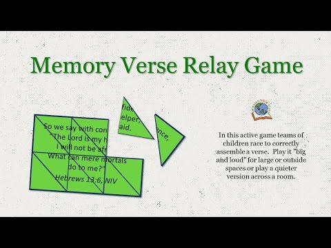 Memory Verse Relay Game